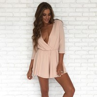 Belle Romper In Blush Pink