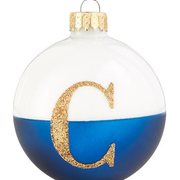 Holiday Lane Glass Initial Ball Ornaments, Created for Macy's | macys.com