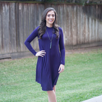 High Neck Everyday Dress | Purple | Dress | Fall 816