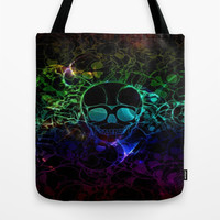 COLORFUL SKULL Tote Bag by Acus