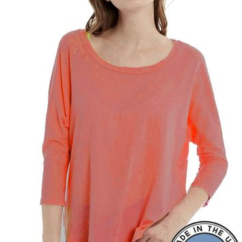 Organic Cotton Top 3/4 Sleeve Tee - Willy