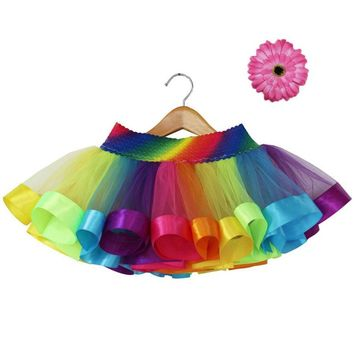Summer Style Girl's Rainbow Tutu Skirt