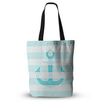 "Monika Strigel ""Stone Vintage Aqua Anchor"" Everything Tote Bag"