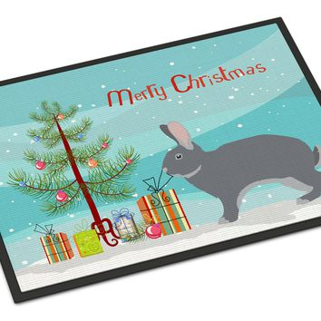 Giant Chinchilla Rabbit Christmas Indoor or Outdoor Mat 24x36 BB9333JMAT