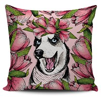 Goofy Siberian Husky Pillow Cover