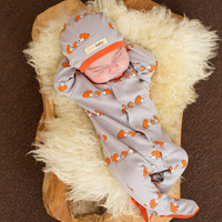 lil critters gloved-sleeve overall - Pumpkin' Hedgehog