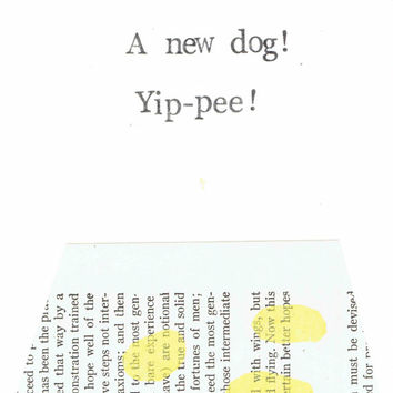 A New Dog Yippee Card Funny New Puppy Pun Adoption Rescue Congratulations House Training Pet Humor Dog Mom Dog Dad Humane Society