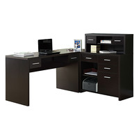 Hollow-Core L-Shaped Home Office Desk