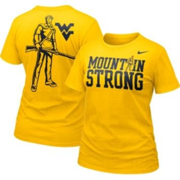 Nike Women's West Virginia Mountaineers Gold 'Mountain Strong' Fan T-Shirt - Dick's Sporting Goods