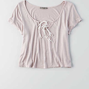 Don't Ask Why Drapey T-Shirt, Blush