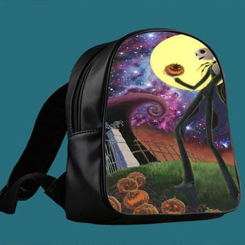 nightmare before christmas nebula galaxy for Backpack / Custom Bag / School Bag / Children Bag / Custom School Bag *