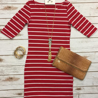 On the Docks Dress: Red