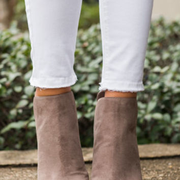 A Mile In These Booties, Taupe