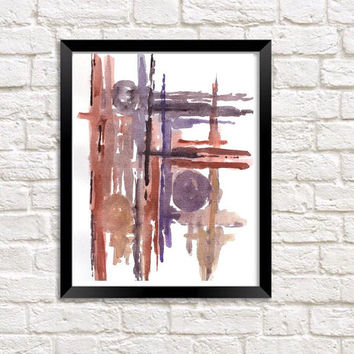 Minimalist watercolor, neutral abstract print, modern wall art, office painting, living room artwork, abstract art print, contemporary art