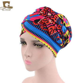 New African Design Headscarf Long Head Scarf Jewish Headcover Turban Shawl Warp Hair African Bohemian Headwrap Chemo Turbante