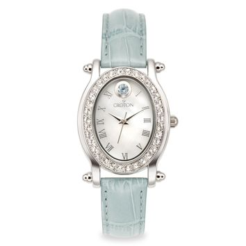 Croton Womens Stainless steel March Birthstone Mother of Pearl Watch