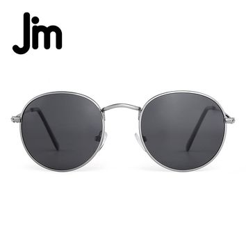 JM Polarized Small Round Sunglasses Retro Mirror Oval Circle Lens Alloy Frame Men Women Oculos Gafas De Sol Vintage Sun Glasses