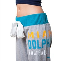 Miami Dolphins Womens Bow Sweatpants | SportyThreads.com