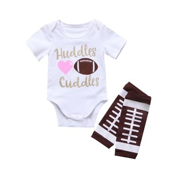 Huddles & Cuddles Onesuit with Football Legwarmers