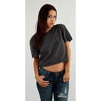Cropped Cotton T Shirt