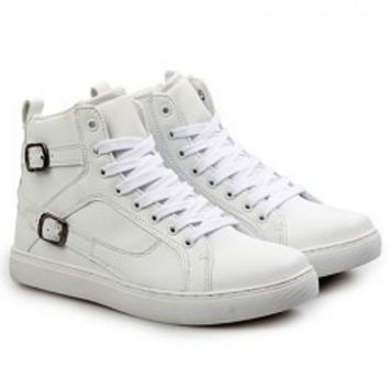 Fashion Men's Boots With Lace-Up and Buckles Design