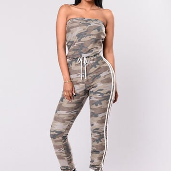 Love In Disguise Jumpsuit - Camouflage/White