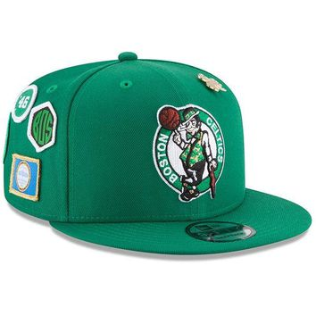 Mens Boston Celtics New Era Purple 2018 NBA Draft 9FIFTY Adjustable Hat