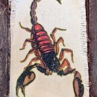 The Scorpion Custom Recycled Canvas Patch – BACKBITE
