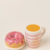 Coffee and donuts salt and pepper shakers