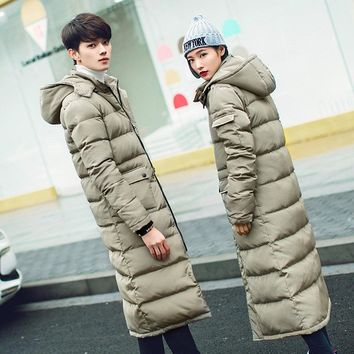2016 New Clothing Jackets Business Long Thick Winter Coat Men Solid Parka Fashion Overcoat S 3XL Long Coat 3 Colors MK471