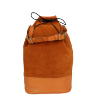 Handmade Genuine Leather Retro Rucksack Backpack College Bag,school Picnic Bag Travel (MD10)