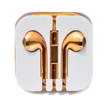 Gold Tone iPhone Headphones