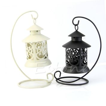 Iron Moroccan Style Candleholder Lantern Wedding Home Decor