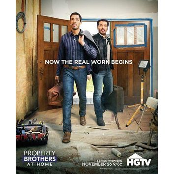 Property Brothers poster Metal Sign Wall Art 8in x 12in