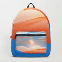 Minimal mountains 02 Backpack by vivianagonzlez