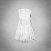 Michelle Strapless Eyelet Dress