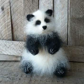 Bear Panda Art Sculpture Animal Soft Sculpture Dolls and Miniatures holidays gift ideas