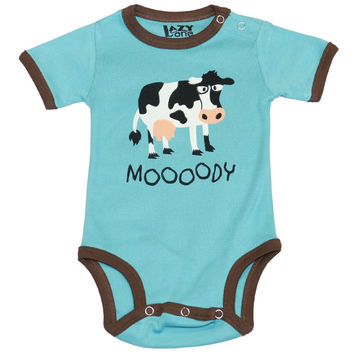Cow Moody Baby One Piece