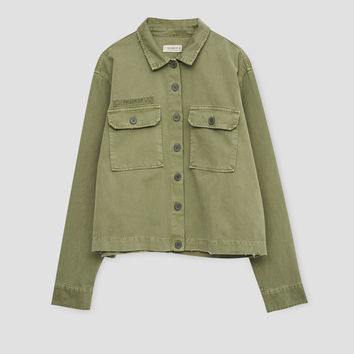 Overshirt with pockets - What's new - Clothing - Woman - PULL&BEAR United Kingdom