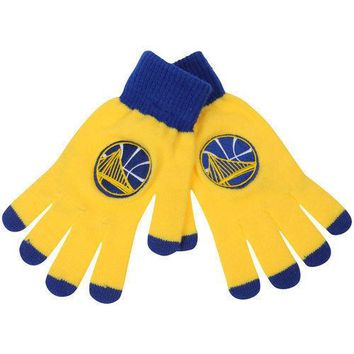 Golden State Warriors Stretch Knit Gloves with Texting Tips NBA