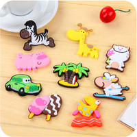 1618 creative cute cartoon animals refrigerator magnet stereo ECD soft magnetic Fridge Magnets