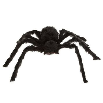 "12"" Black Large Spider Plush Toy Halloween Party Scary Decoration Haunted House Prop Indoor Outdoor Yard Decor"