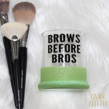 Brows Before Bros // Glitter Dipped Makeup Brush Holder