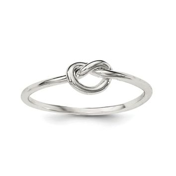 Sterling Silver Small Polished Love Knot Ring