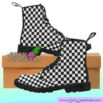 CHESS PLAYER Combat Boots Rave Clothing Music Festival Clothing Rave Outfit Women Burning Man Clothing Rave Wear Psychedelic Clothing