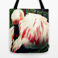 Pink Flamingo  Tote Bag by Oksana's Art