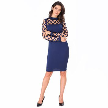 Cut-out Slim Dress