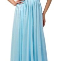 Zrdress Bridesmaid Chiffon Evening Dresses for Women Formal Prom Gowns