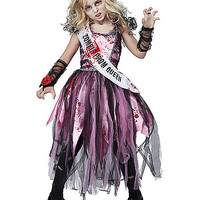 Kids Zombie Prom Queen Costume - Spirithalloween.com
