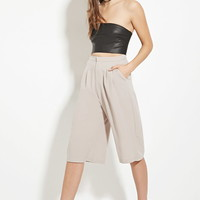 High-Waisted Pleated Culottes